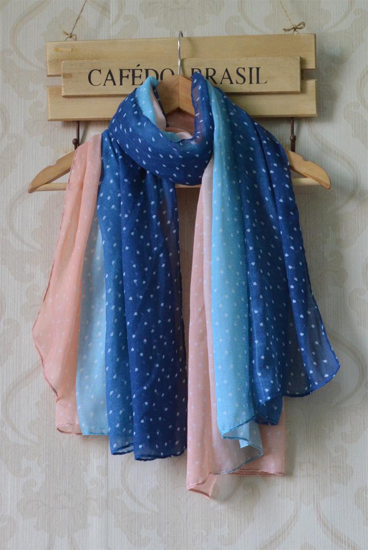 Femmes écharpes 2013 nouvelle livraison gratuite, dots colorful impression, long châle des femmes, viscose, hijab, tie-die foulards, avec patchwork, cape
