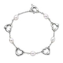 silver pearl bracelet price