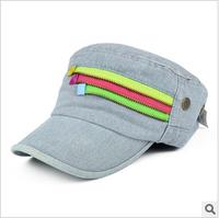 new 2014  fall color zipper denim baseball cap(freeshipping)