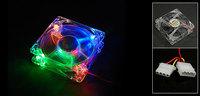 Colorful 4 LED Light Computer PC CPU Heatsink Cooler Cooling Fan