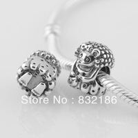 New Arrival 925 Sterling Silver Miss Hedgehog Scew Hole Spacer Charm Bead, Suitable for Pandora Bracelet Jewelry DIY LW286