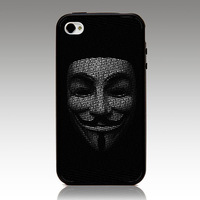 For iphone 4 4s iphone 5 5s iphone 5C case V for Vendetta Joker Mask hard TPU mix PC Phone cover Wholesale Retail Free Shipping