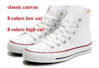 Hot sales Low/high Style STAR chuck Classic Canvas Shoes Sneakers Men's/Women's With Canvas Shoe14 style 7 Colors  All Size35-45