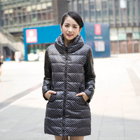 2013 autumn and winter medium-long women's fashion down coat fur collar outerwear wadded jacket