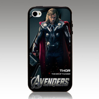 For iphone 4 4s iphone 5 5s iphone 5g case  chris hemsworth thor hard TPU mix PC Phone cover Wholesale Retail