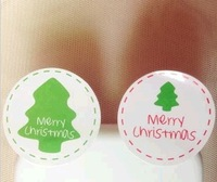 SS053 Merry Christmas 2 Designs Lovely X-mas Sticker for Christmas Gift/Home Decoration/ Scrapbooking 600Pcs/Lot