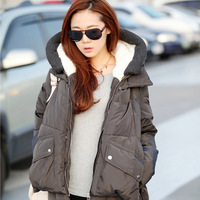 Short design 2013 winter down coat fashion women's white duck down with a hood thickening long-sleeve outerwear female