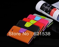Free Shipping 1pcs Litchi stria Flip Leather Case Cover  for iphone5S with Stand+5 Different Colors