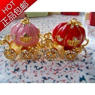 Usb flash drive 32g original crystal diamond usb flash drive fashion jewelry pumpkin car usb flash drive 32gb