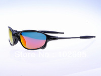 Free shipping JULIET Sports Cycling Aluminum Alloy Frame UV 400 Protection Polarizing Sunglasses with box