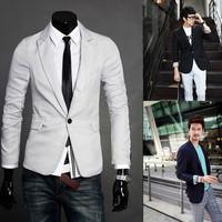 Fashion Mens Top design Casual Slim Fit One Button Suit Coat Jacket Blazers