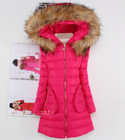 new 2014  winter children outerwear,four colors long section thicken high quality girls down jacket,carters kids down & parkas