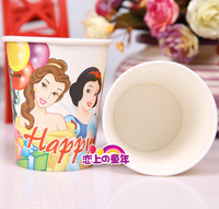 Birthday supplies child products cartoon graphic patterns disposable paper cup princess paper cups