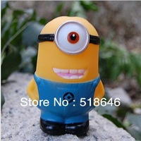 Despicable Me Animation Doll Cute Cartoon Yellow Soybeans Big Eyes Doll Whistle Doll Soft Rubber Cartoon Figure Actions