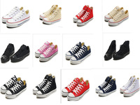 Free Shipping Dropship 13 Colors Sneakers for Women Men Classic Canvas Shoes Wholesale Low Casual Shoes FREE EXTRA SHOELACES