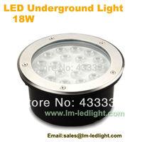 free shipping led inground lighting 18W garden light white red blue green rgb ground spots 85-265V 12V 24V floor uplighter