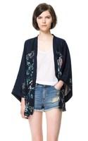 2013 New arrive women autumn Loose blouse Batwing Elegant Kimono Top Phoenix Print lady Kimono cardigan cape