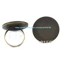 50pcs Antique Bronze Adjustable Ring Settings Blank Base Glue On 25mm Free Shipping