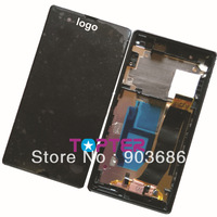 For Sony Xperia Z l36 L36h L36I LT36H LT36 LT36I LCD display screen+digitizer touch glass assembly part +faceplate front frame