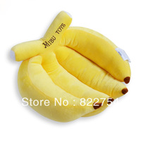 Free shipping!Banana pillow sierran car cushion plush toy Yellow color,good choice  for birthday gift and coming christmas gift