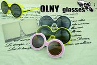Oculos de slo Eyewear circle round arrow sunglasses Retro sun glasses 2251 free shipping