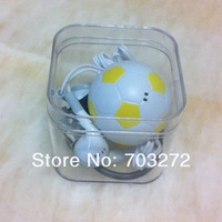 New arrived,Cartoon Football design mini mp3 music player,Support 1-8GM micro memory card+usb cable+earphone+gift box 5set/lot
