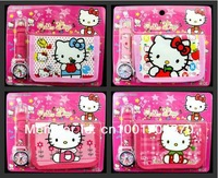 Free shipping Hello Kitty girl's cartoon wallet watches children Students Fashion  Kids purse Watch Christmas gifts 6pcs/Lot