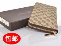 2013 male long design wallet fashion women's single zipper day clutch