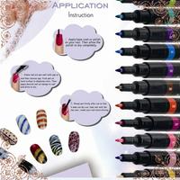 Free Shipping 2PCS/LOT Pro Nail Art Paint Equipment Drawing Pen Nail Tools Great Diy Decoration