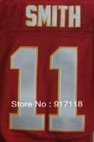 Free Shipping #11 A.Smith Men's Elite Football Jersey,Embroidery and Sewing Logos,Size M--3XL ,Accept Mix Order