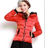 2013 autumn winter women slim wadded jacket short design down cotton-padded jacket outerwear