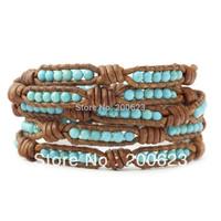 2013 vintage style friendship bracelet bindy 5 wrap bracelets turquoise bead bracelet jewelry free shipping