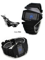 New 2013 LED watch B-2 Bomber LED Military Force sports watch wholesale student watch Christmas gift Free shipping
