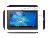 DHL Free 7 inch Allwinner A23 Dual Core Tablet pc MID WIFI External 3G Capacitive Screen 512MB 4GB Android 4.2 Q88