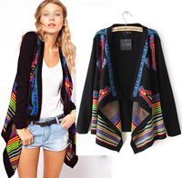 HOT SALE!Women Loose Sweater Boho Open Front Asymmetric Wrap Cardigan Knit Loose Top Coat S M L Free shipping