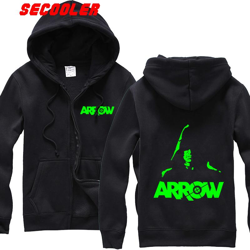 Green Arrow Oliver Queen Arrow Cosplay zipper head Costume night    Green Arrow Hoodie