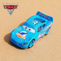 Original 1/55 Scale Pixar Cars 2 Toys Dream Edition Blue DINOCO Lightning #95 Racing Car Diecast Metal Toy For Children's Gift