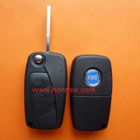 Fiat 3 button flip remtoe key blank (Black Color)