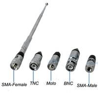 Free shipping (10pcs/lot) High Gain 3dBi VHF/UHF Telescopic Antenna for UV-5R Baofeng WOUXUN,PuXing,Quansheng Radio