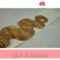 "Medium Brown Color 8 Body Wave Virgin Malaysian Human Hair Weave 5A Grade Virgin Remy Hair Mixed Length 4pcs Lot 8""-28"""