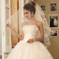 12 married bridal veil formal dress wedding dress small bow accessories veil