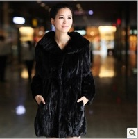 luxury high quality Korea fashion real winter mink brand natural outerwear coats plus size xxxl xxxxl 4xl 5xl 6xl  xxxxxl xxxxxl