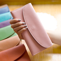 Hearts . 2013 women's long design three fold wallet genuine leather small clutch cowhide card holder large gauze pocket