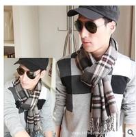 Winter Han Yinglun plain striped cashmere wool scarf men thick long scarves wholesale men's plaid
