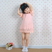 2013 Autumn and winter hot sell girls pink lace princess dress, pure cotton lining !!!