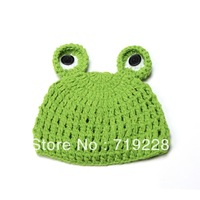 Korean Handmade Cartoon Decorations Baby Photography Props Modeling Wool Green Cap Christmas Gift  XDT36