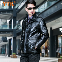 Men's clothing 2013 winter male genuine leather sheepskin clothing double collar down coat