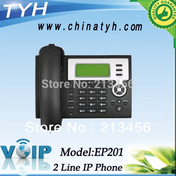 Hot selling Ethernet ports desktop voip phone 2 sip lines ip phone telephone landline phone(China (Mainland))