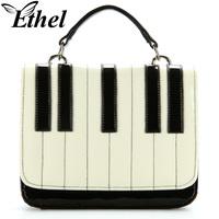 Ethel 2013 women's patchwork handbag piano black and white color block bag messenger bag handbag