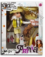 High quality dolls for children the popular Princess doll 1  piece with accessories and color box gift free shipping